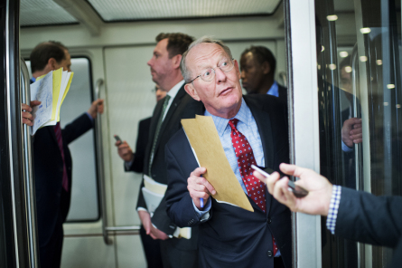Lamar Alexander shepherded the No Child Left Behind rewrite through the Senate. (Photo by Tom Williams, CQ Roll Call)