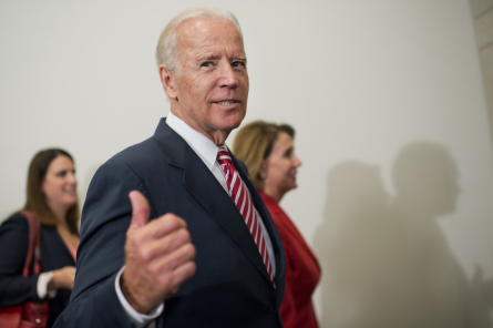 Biden has plenty of credentials and credibility but being vice president for eight years has its downside. (Photo by Tom Williams, CQ Roll Call)