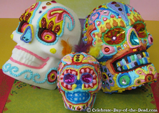 Sugar skulls are the most common recipe in Mexico during Halloween.
