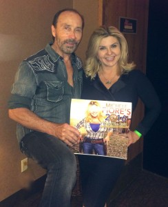 Photo of the 2016 Walk the Talk Calendar with Lee Greenwood.