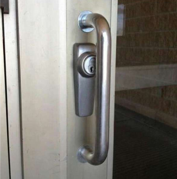 Sillly place to put a lock