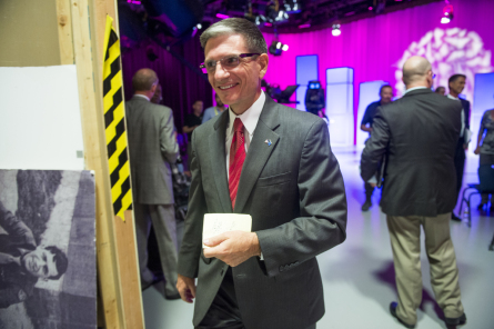 UNITED STATES - OCTOBER 11: Rep. Joe Heck, R-Nev., leaves the set following his debate with Nevada State Assembly Speaker John Oceguera at Vegas PBS for Nevada's 3rd Congressional district race on Thursday, Oct. 11, 2012. (Photo By Bill Clark/CQ Roll Call)