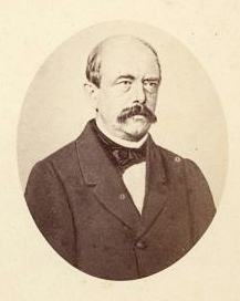 Bismarck in 1863, one year after assuming the Prussian chancellorship. Photo taken by the Italian photographer Alessandro Pavia.