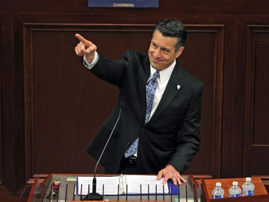 Brian Sandoval at State of State speech (Source: AP).