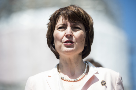UNITED STATES - APRIL 28: Rep. Cathy McMorris Rodgers, R-Wash., participates in the news conference on Food and Drug Administration menu labeling regulations on Tuesday, April 28, 2015. (Photo By Bill Clark/CQ Roll Call)