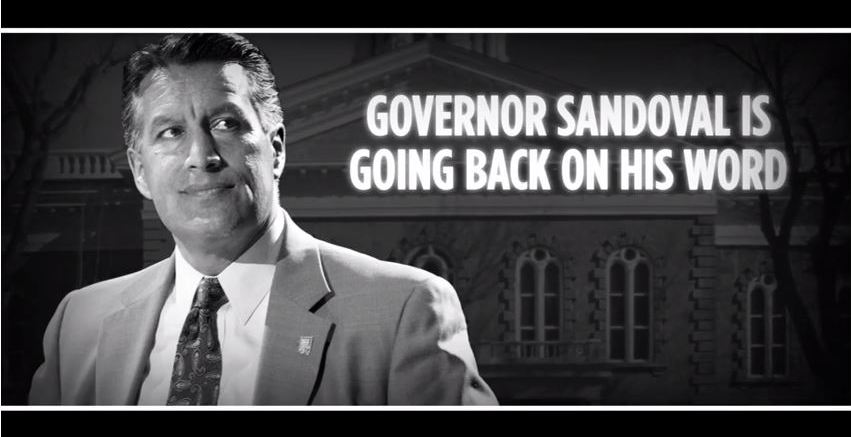 Gov Sandoval is going back on his word