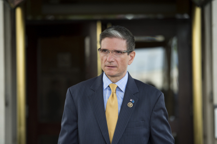 UNITED STATES - MAY 19: Rep. Joe Heck, R-Nev., leaves the House Republican Conference meeting at the Capitol Hill Club in Washington on Tuesday, May 19, 2015. (Photo by Bill Clark, CQ Roll Call)