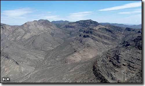 Mount Irish in the Basin and Range area.