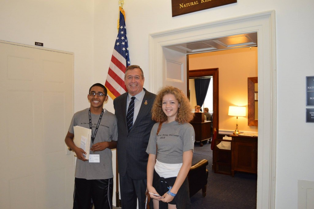"I had a chance to meet with two inspiring young Nevadans, Claire Sloane and Isai Jimenez, on their way to National Campaign to Stop Violence recognition ceremony. They were selected to represent Nevada as the ""Do the Write Thing Challenge"" winners for our state."