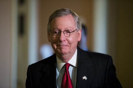 McConnell set up Sunday's victory for Ex-Im Bank supporters. (Photo by Bill Clark, Roll Call)
