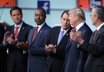 GOP presidential candidates have projected ambitious goals for their first day in office, if elected president.
