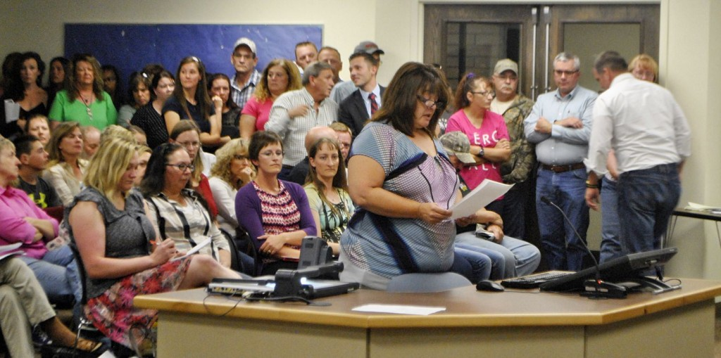 School board meeting packed to discuss bathroom access by transgender student. (Source: Elko Daily Free Press)