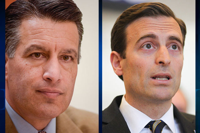 Gov. Brian Sandoval and Nevada Attorney General Adam Laxalt