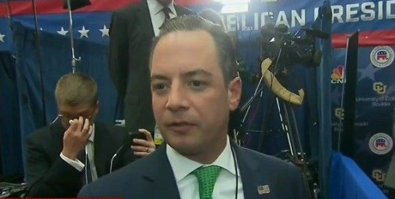 Reince Priebus, Chairman of the Republican National Committee, in an interview during the 3rd GOP Presidential Debate.
