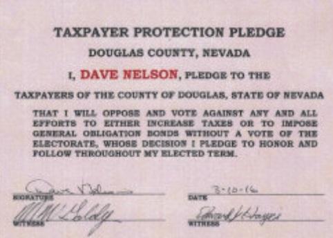 Tax Pledge. Nelson