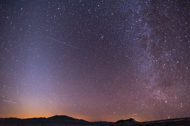 Milky Way as viewed in Tonopah. (Courtesy: Las Vegas Review-Journal)