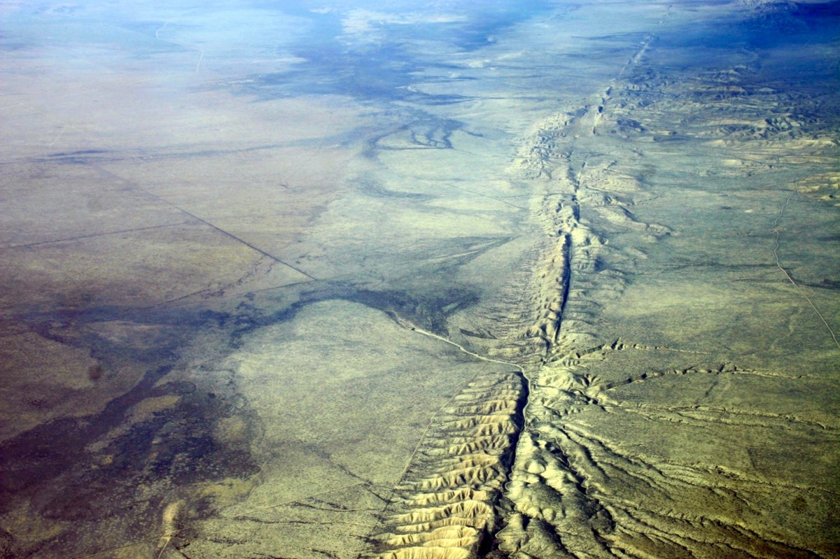 The San Andreas Fault in California is expected to give the state a M8.0 earthquake after an earthquake in 1857 trembled California at M7.9. (Courtesy: Wikipedia)