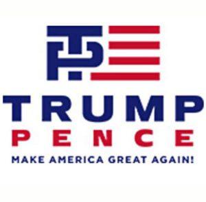 Trump Pence logo - Make America Great Again